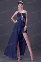 Grace Karin Sexy Strapless Slit Long Lace Up Evening Dress B...