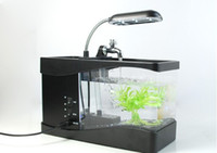 Wholesale New arrival aquarium computer USB aquarium USB aquarium mini fish tank USB battery