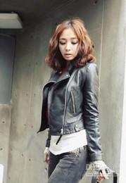 Wholesale New Arrival Fashion Slim Locomotive leather jacket Women stylish short coat Winter leather outerwear