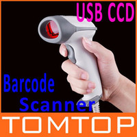Wholesale Big Discont Acan USB CCD Long Scan laser Barcode Scanner Bar Code Reader White Color Free Ship