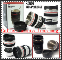 Wholesale 5Generation stainless steel liner travel thermal Coffee camera lens mug cup ML white