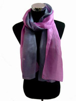 Wholesale lady Fashion tone silk Scarf wrap shawl Scarves mixed color