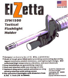 Wholesale Elzetta ZFH1500 Tactical Flashlight Mount for AR15 M4 M16 Attaches to front sight base