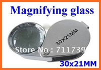 Wholesale 20PCS set illuminated jeweler s loupe led light source jewelry magnifier X21MM