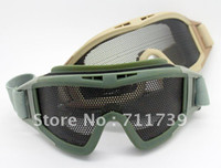Wholesale 10pc NEW Tactical Sports Glasses Eye Protect Protective Net Glasses Goggles CS safety glasses Army Green
