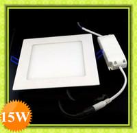 15W No LED 15W LED Ceiling Light Lamp Warm Pure white 85-265V Square Ultra-thin Led Panel light Led down light