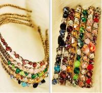 Colorful Irregular Crystal Glod Hair Hoop Head bands Mix 201...