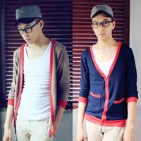 Men Alpaca Twinset Free Shipping Male sweater clot british style METERS BONWE slim pocket yarn cashmere cardigan V-neck