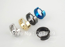 4mm 316L stainless steel body piercing jewelry Earring ring Ear button Earring rings 50pcs silver white golden blue black can mix - 01011