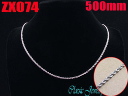 500mm diameter 2mm stainless steel necklace twist chain man's lady fashion jewelry 20pcs ZX074