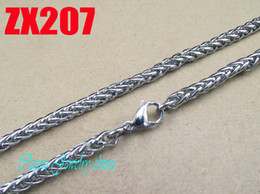 Wholesale 450 mm hot sale stainless steel mm basket chain men male boy Father s birthday presnet fashion necklace chains per ZX207