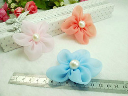 Wholesale a slik cute hair flower DIY accessories diff color good for kids cloth clip decoration G51