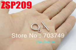 stainless steel necklace Circle toggle clasps set bracelet connection jewelry accessories parts