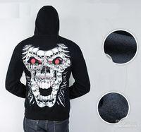 Cheap New Arrival hottest men's Hoodies Sweatshirt zipper 3D skull
