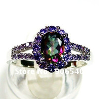 no minimum order - Promotion silver with mystic stone Ring fashion jewelry no minimum order DR010415R
