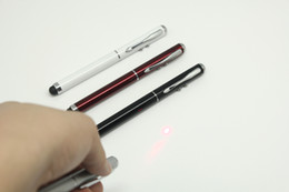 Wholesale 3 in Laser Point Stylus Pen for iPhone G S iPad Touch Pen Samsung Galaxy S3 note N7100 HTC