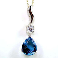 Wholesale Blue Topaz Pendant Jewelry Hot selling Fine Jewelry DR80295P