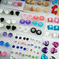 Wholesale Jewelry Resin And Rhinestones Mixed Fashion Earrings