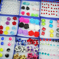 Wholesale 140pcs Jewelry Resin Rhinestones Fashion Mix Earrings