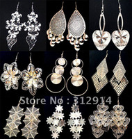 Wholesale Jewerly High Quality Gold and Silver Fashion Earrings Mixed