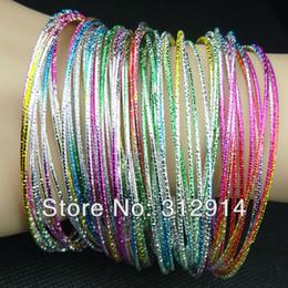 100pcs Zinc Alloy Wholesale Jewelry Unique Colored Fashion Bracelets Bangles NEW Charming Ornaments