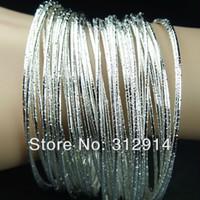 Wholesale 100pcs Unique Silver Color Fashion Zinc Alloy Bracelets Bangles NEW Charming Ornaments