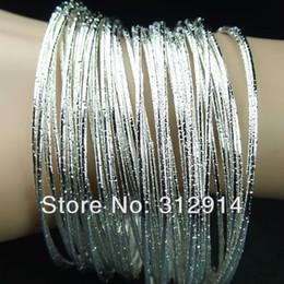 100pcs Wholesale Unique Silver Color Fashion Zinc Alloy Bracelets Bangles NEW Charming Ornaments