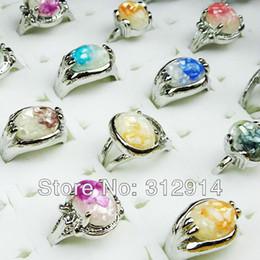 Wholesale Jewelry Lots 10 Pcs Mix Shell Silver Rings Mix Size Gift NEW
