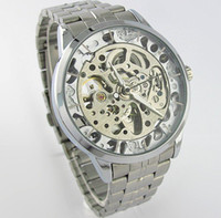 Wholesale New Mens Automatic Watch Luminous Silver White Burgundy