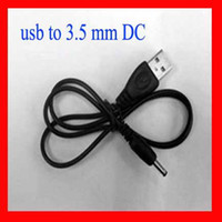 Wholesale 2 FT USB charger cable to DC mm plug jack dc mm