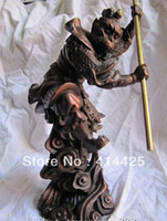 Wholesale pure red bronze chinese myth Journey to the West Monkey King Son Goku statue