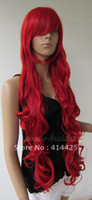 """other other other 33"""" Heat resistant Long Bang Dark Red Spiral Wavy Cosplay Party Hair Wig"""