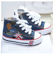 Wholesale Boy amp girl Canvas Shoes kids Cute Leisure Shoes High Tie Zipper Sports Shoes Sneakers Board Shoe