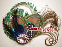 Wholesale Wedding Hair Accessories Peacock Bridal Fascinator Feather Hair PIece feather hair clip