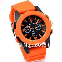 Wholesale 2pcs Colourful silicone men watch watches men Alloy silicone material for sport
