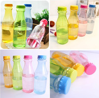Wholesale Portable Unbreakable Sports Water Bottles Sealed Cute Leakproof Plastic Drink Cups Glass