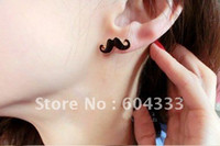 Wholesale Mini Vintage Moustache Mustache Stud Beard Earrings Stud Earring Fashion Earring pairs