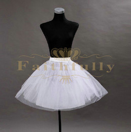 2017 Strong Tulle Short Petticoats White Cheap Two Hoops Three Layered Underskirt For Short Skirt Free Shipping