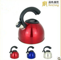 Wholesale Stainless steel kettle gas cooker whistling kettle L