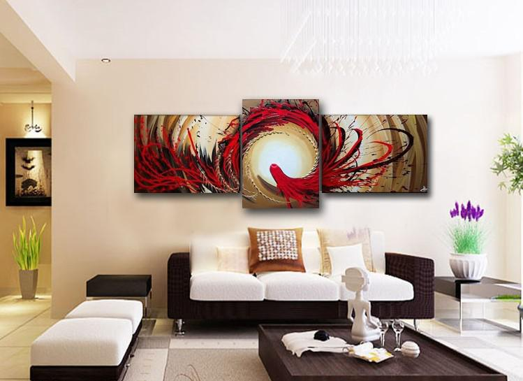 2017 wall painting abstract phoenix oil painting canvas for Wall paintings for office