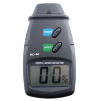 Wholesale 4 Pin Damp Detector Tester Digital Wood Moisture Meter retail freeshipping
