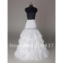 Wholesale Hot Selling A Line Court Train layers Satin Wedding Petticoats
