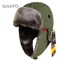 Wholesale Brand SANTO M65 Men And Women Outdoor Winter Warm Wind Ultra light Bomber Hats Color Blue Black Red