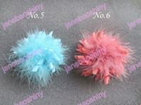 Linen baby korker headbands - Girl Feather Corker Hair bows korker clips girl baby feather hair bows