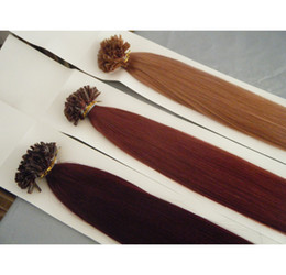 Wholesale 18 quot quot quot g s g j Keratin Prebonded NAIL HAIR U Tip Hair Extensions INDIAN REMY in stock