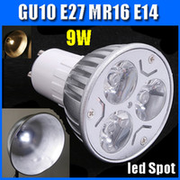 Wholesale LED spot light GU10 E27 MR16 E14 W CE RoHS white warm white V spot lighting Promotion