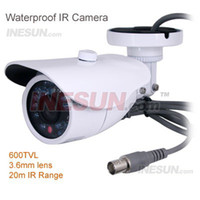 Cheap 600TVL High Resolution; High SNR, image clear and exquisite 20m IR Range Waterproof IR Camera