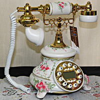 Wholesale High Quality Rose Flower Classic Telephone Antique Retro Home Telephone European Style