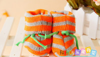 Wholesale 2013New Crochet Baby First Walker Shoes Flower Booties Cotton Yarn Mix Design Custom Mix Order