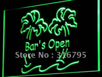 Wholesale i814 g Bar is Open Palm Tree Pub Beer Neon Light Sign
